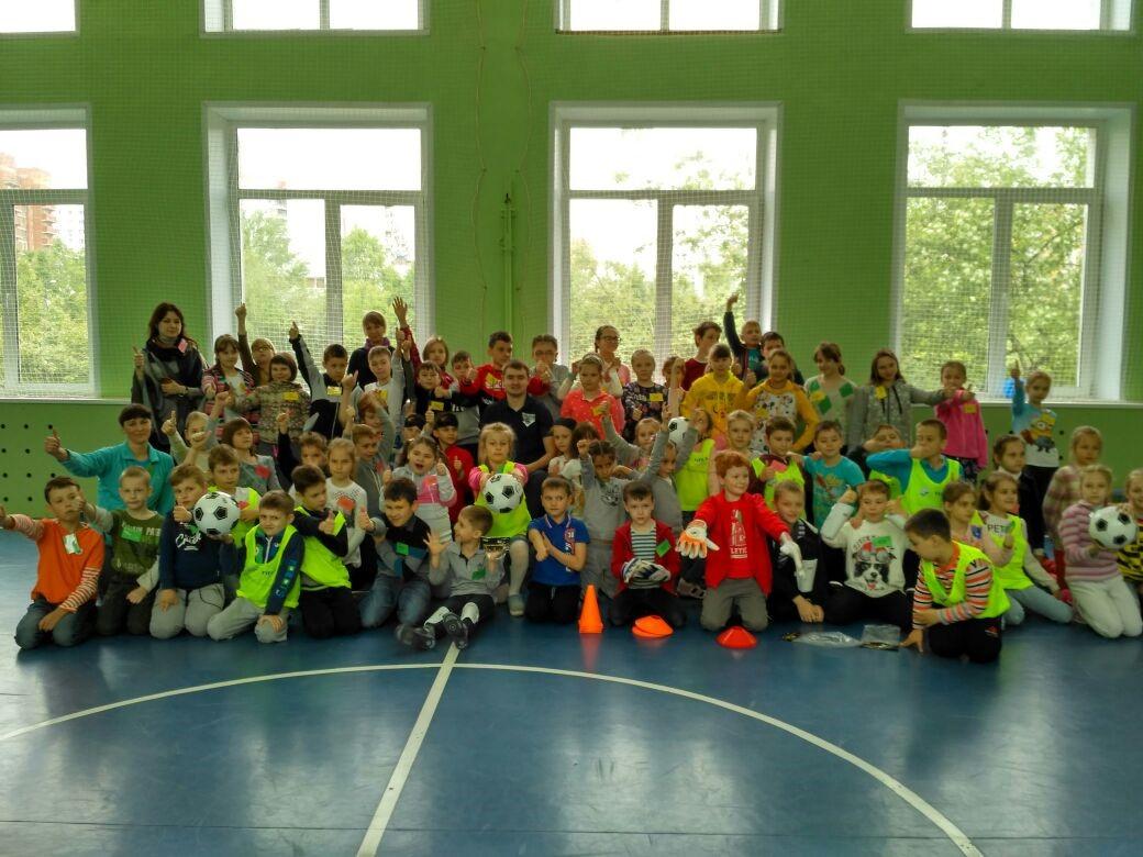 Футбол для незрячих в школе