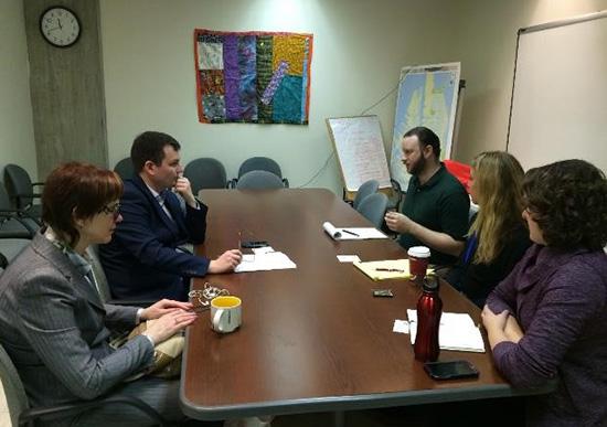 Встреча в офисе мэра Бостона по вопросам инвалидности