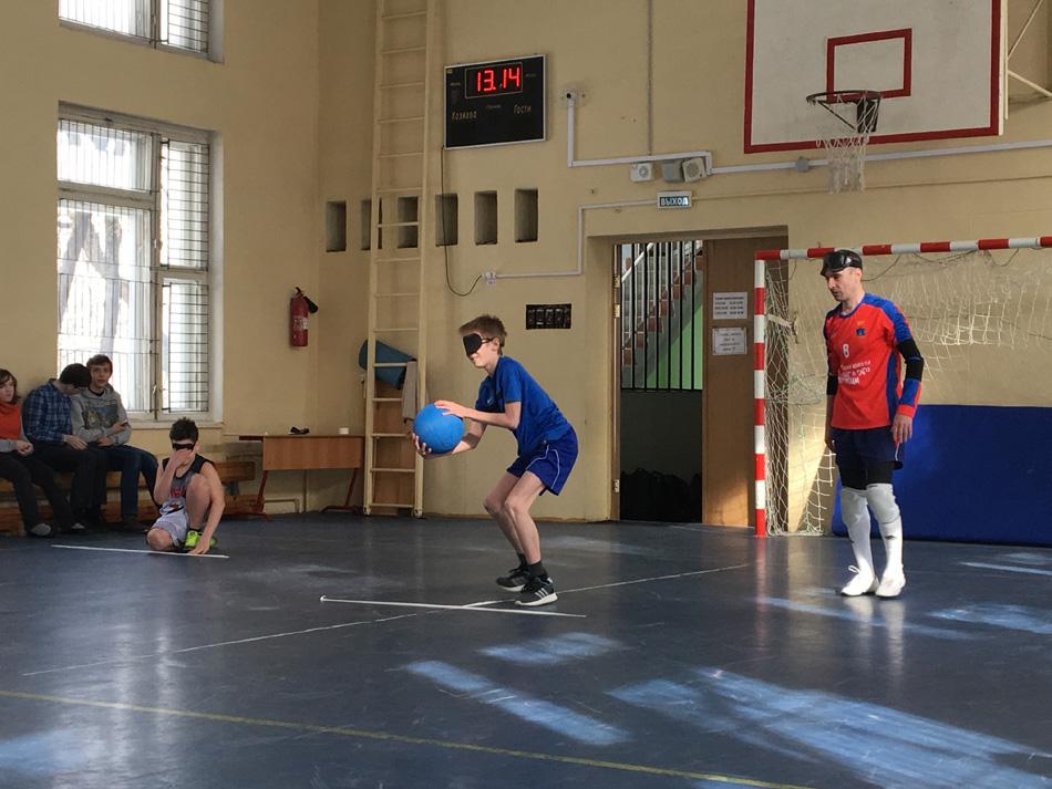 Сборная Подмосковья по голболу провела турнир для школьников