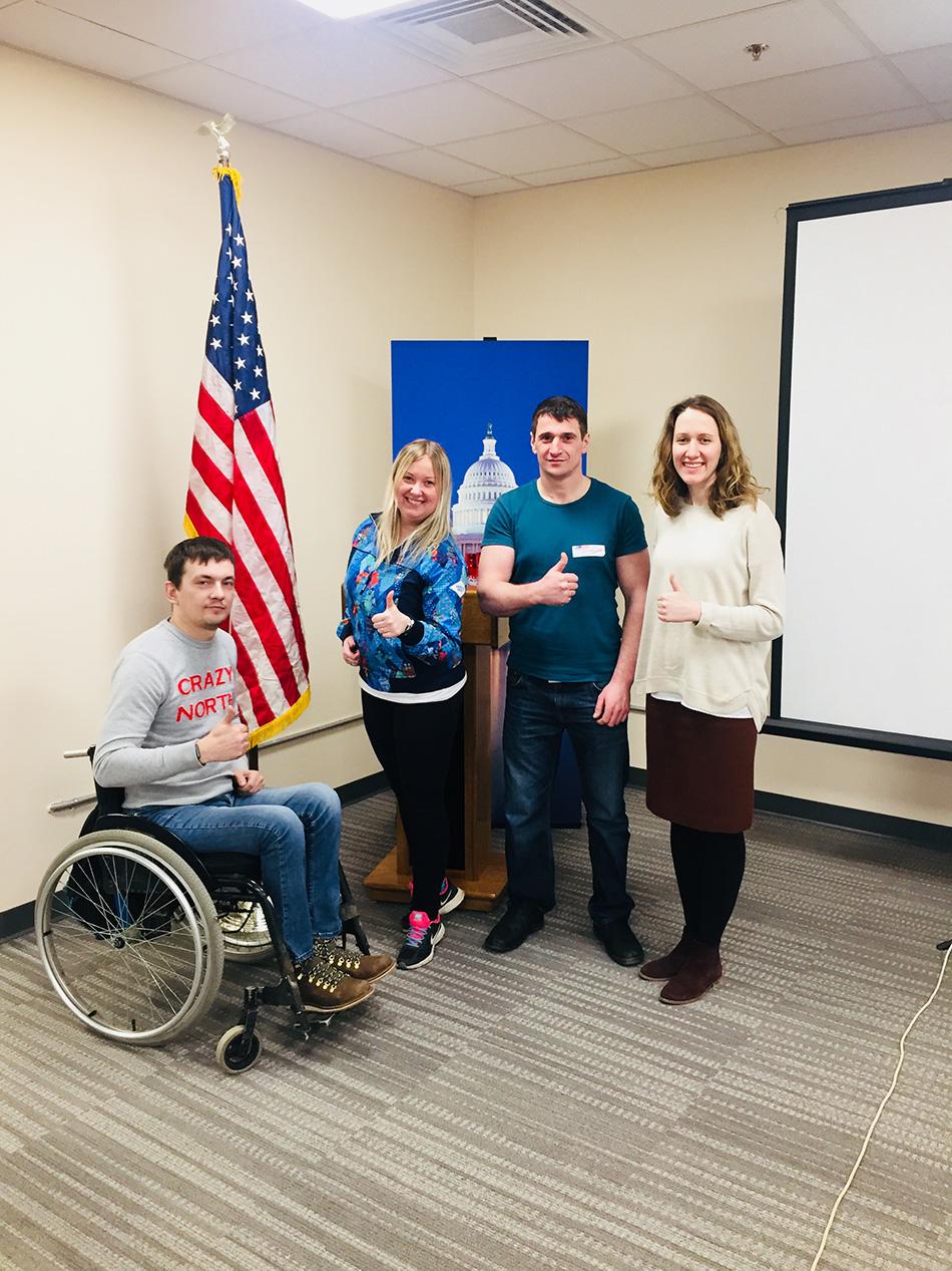 Паралимпийский урок прошел в Американском центре при Посольстве США в России