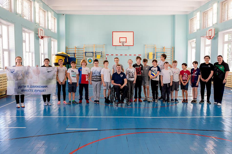 В московской школе №2100 состоялся открытый паралимпийский урок с детьми с инвалидностью и без