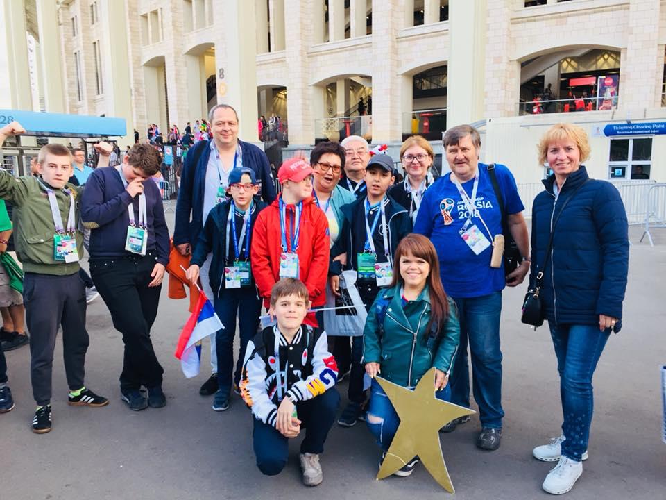 Участники спортивных проектов РООИ «Перспектива» посетили первый матч ЧМ-18 в «Лужниках»