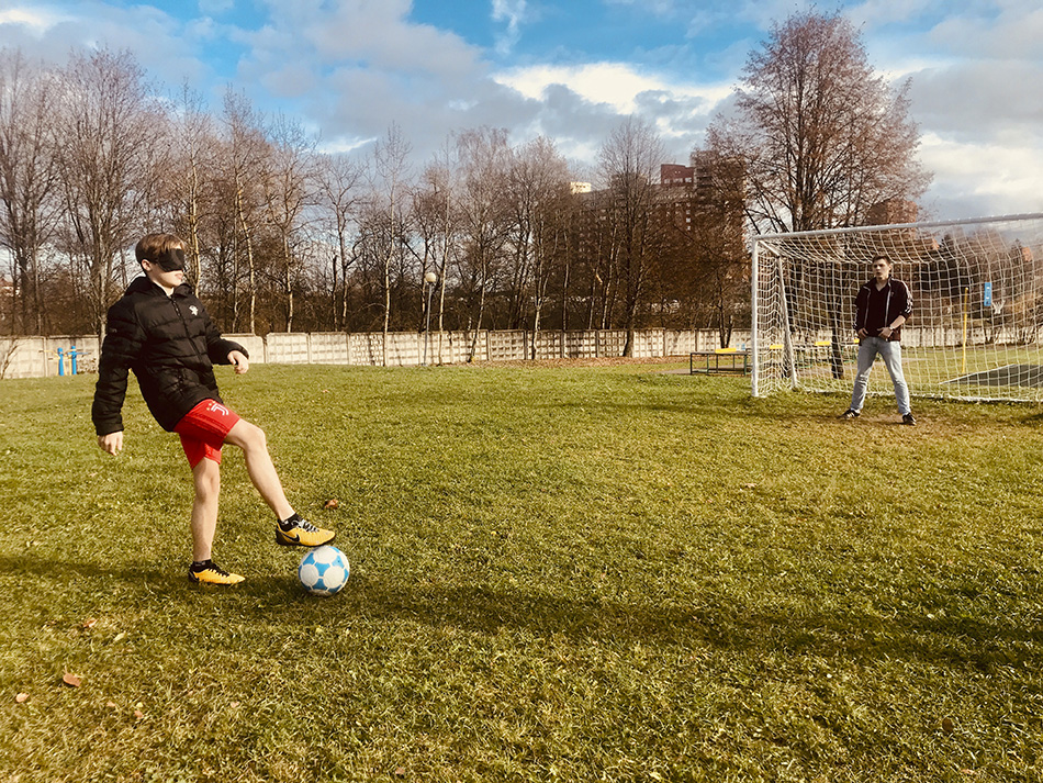 Футбол для незрячих в Зеленограде